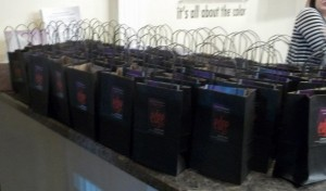 Girls' Night Out gift bags at Edge Hair Design