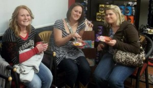 Refreshments at Edge Hair Design's Girls' Night Out with iShopStark.com