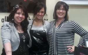 Edge Hair Design staff members at  Girls' Night Out