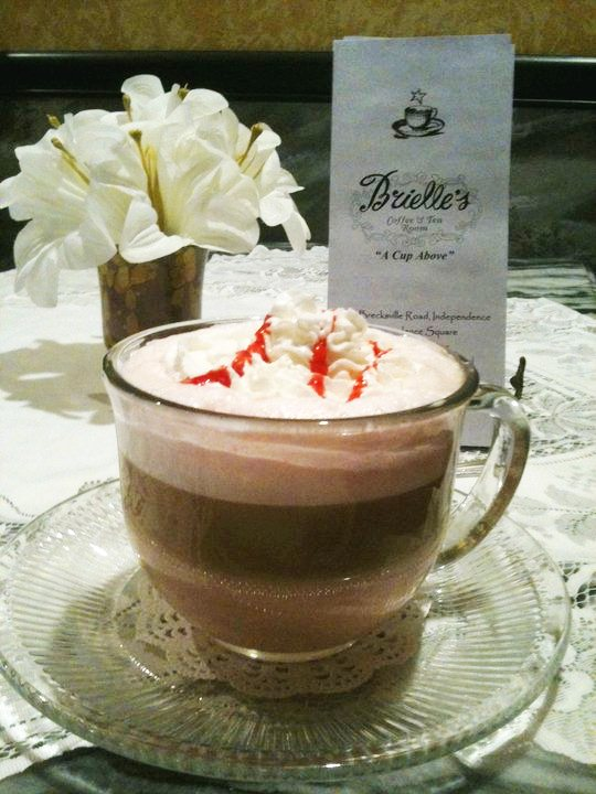 Specialty coffee drink at Brielle's in Independence, Ohio