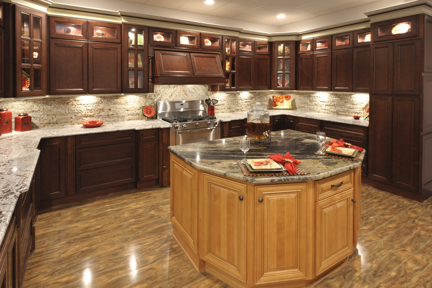 Windy hill hardwoods beautiful jmark kitchen cabinets i for Cocoa cabinets