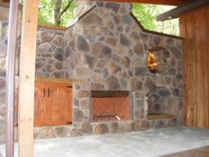 Silca System by Cincinnati Ohio Outdoor Fireplace for