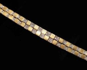 18k Diamond Italian Bracelet