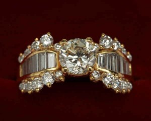 18k yellow gold kurt wayne diamond ring