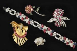Retro Diamond Gemstone Jewelry