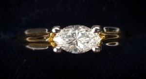 Precious Metal Oval Diamond Ring