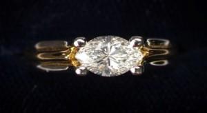 Precious Metal Oval Diamond Ring