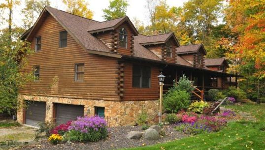 Custom log homes fairview log homes for wheeling west for Fairview custom homes