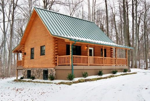 Log cabin builders fairview log homes for indiana for West virginia home builders