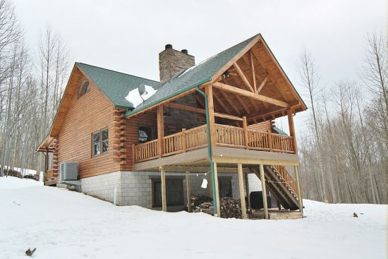 Custom log home construction fairview log homes in for Fairview custom homes